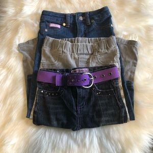 BUNDLE GIRL SKINNY JEANS DIFFRENT SIZES  2T-3-T